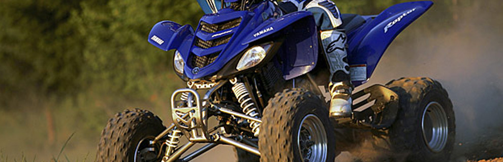 Blue Yamaha four wheeler